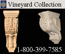 Vineyard collection of corbels