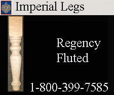 Regency Fluted Hardwood Legs
