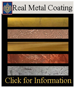 Real Metal Coating for Carvings